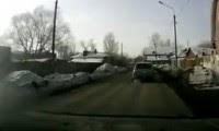 حادثة سيارة فى الجليد