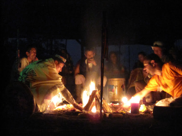 Fire vigil with the elders