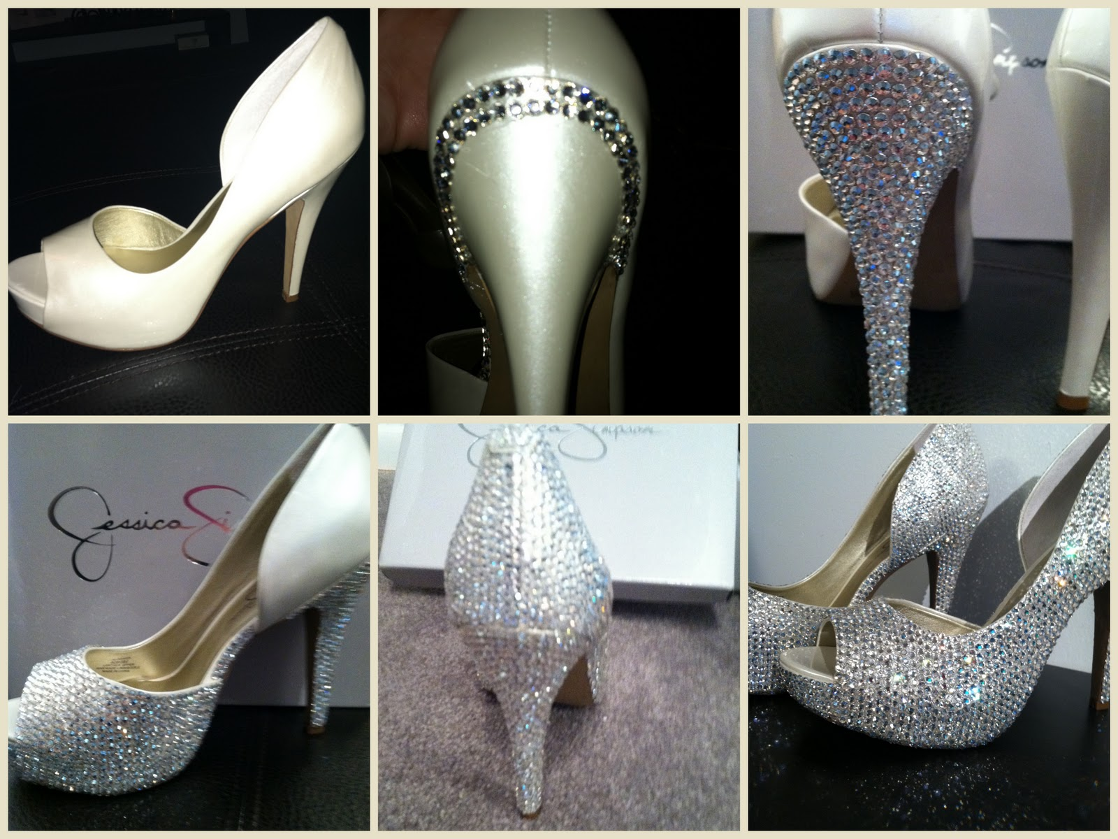 The shoes I used are the Jessica Simpson Acadia pumps in White Pearl  Patent. The crystals I used are Swarovski Crystal Moonlight 4e591cd26d