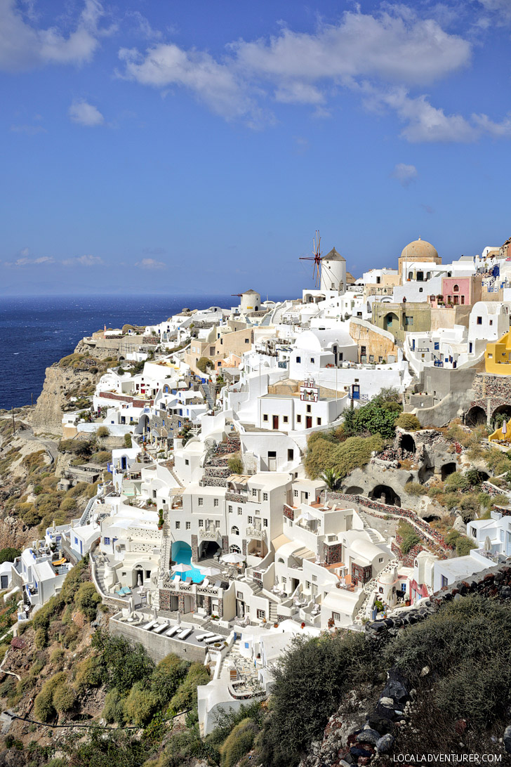Things to do in Santorini: Enjoy the view from the Castle at Oia Village.