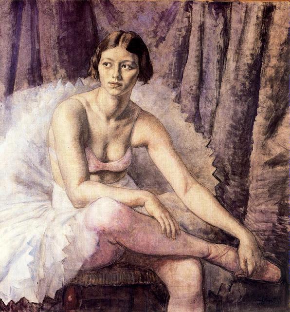 Laura Knight - A Ballet Dancer.