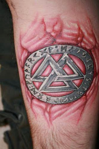 Valknut And Runes