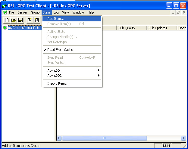 Using RsLinx OPC Test Client to debug OPC Servers – Mesta Automation