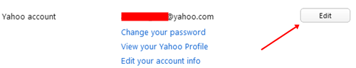 edit yahoo account