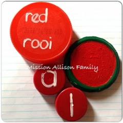 Tot school - lid shape circle, color red, cap number 1, letter A
