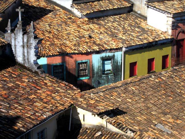 Rooftops in Salvador Brazil