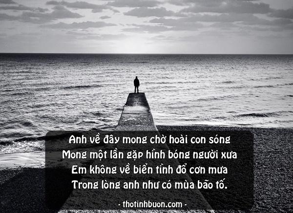 thơ ngắn chờ người về với biển