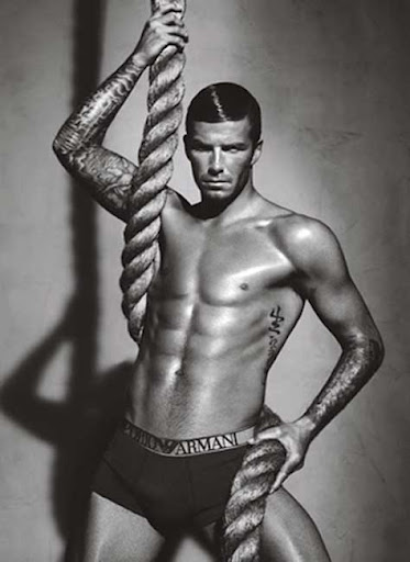 David Beckham, con ropa interior