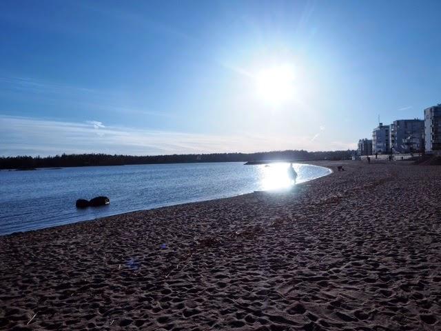 vuosaari, aurinkolahti, helsinki, maisema, beach, ranta, view, aurinko,sun ,meri, sea, hiekkaranta, sand,