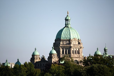 British Columbia Parliament Buildings in Victoria Canada