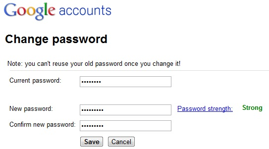 Gmail Strong Password