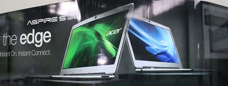 Acer Aspire S3 Review, A Thin and Light Laptop Review and Specs