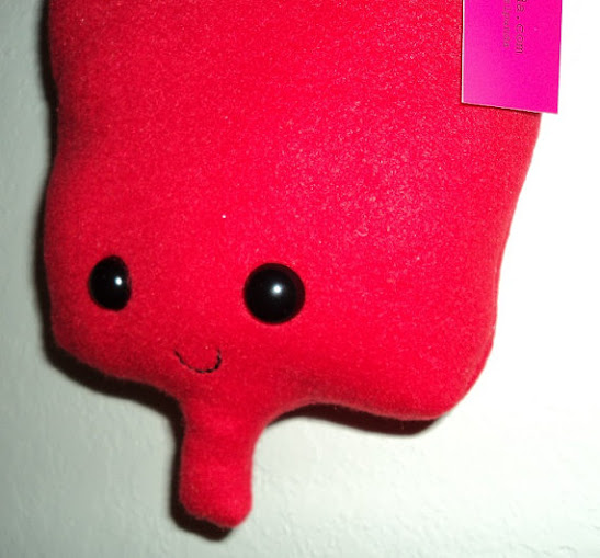 Red Blood Bag Buddy Plush