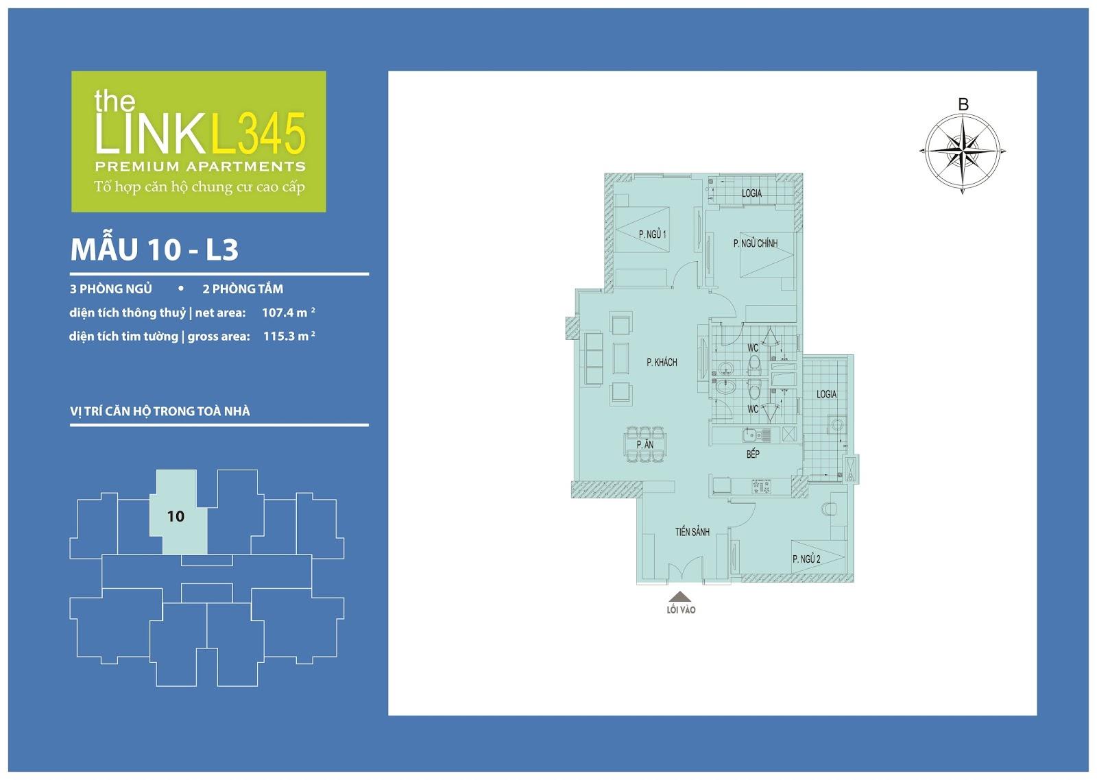 Mặt bằng chi tiết căn hộ 10 - L3