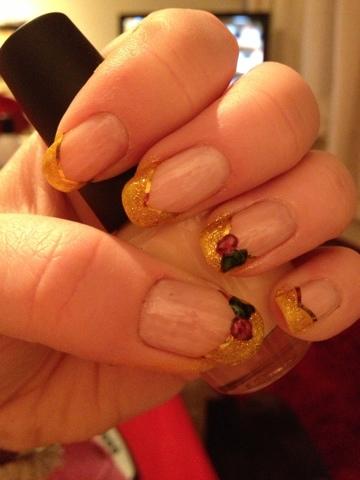 Nail Art Beauty And The Beast Nails