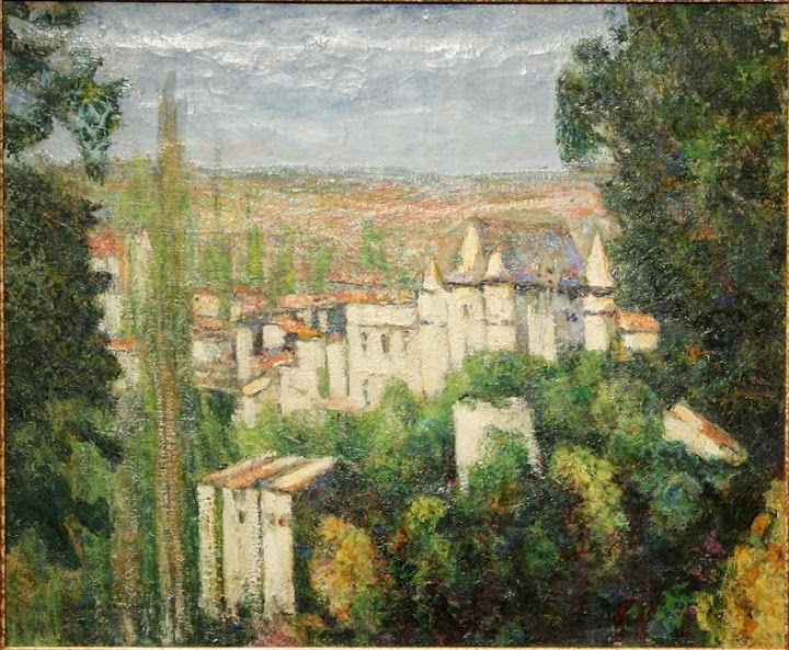 Victor Charreton - Le Chateau de St. Amand Tallende