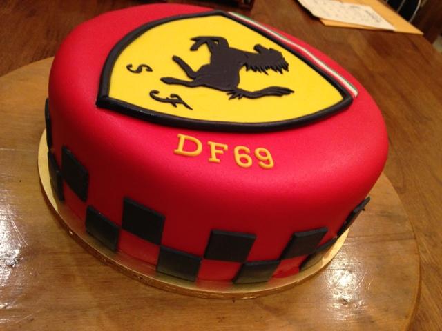 CAKE CUPBOARD: Ferrari logo cake