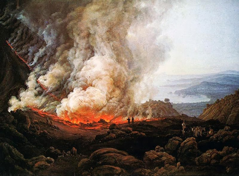 Johan Christian Dahl - Outbreak of the Vesuvius