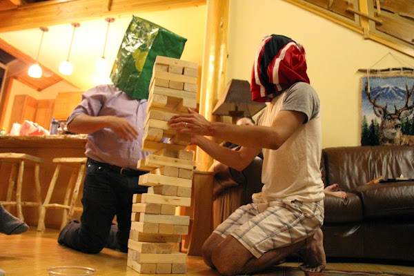 Blind giant Jenga