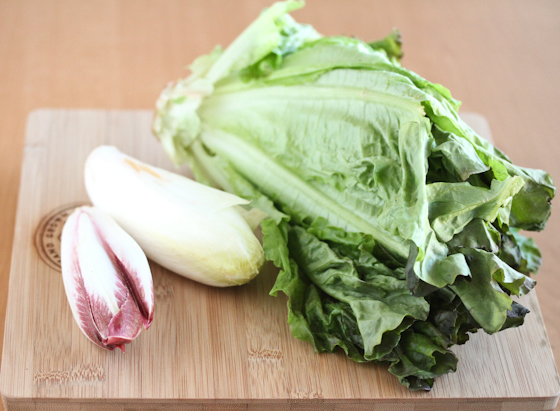photo of lettuce on a cutting board