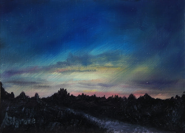 Sunset Sampler No. 1 - Original Painting
