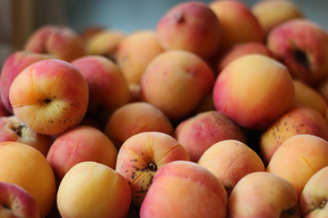 blanched peaches