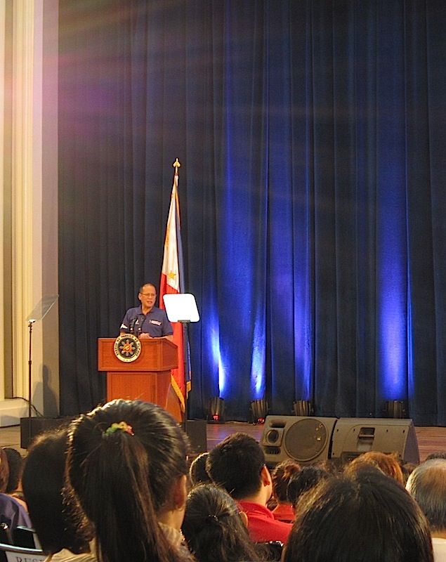 President Aquino at the 2013 Ignatian Festival
