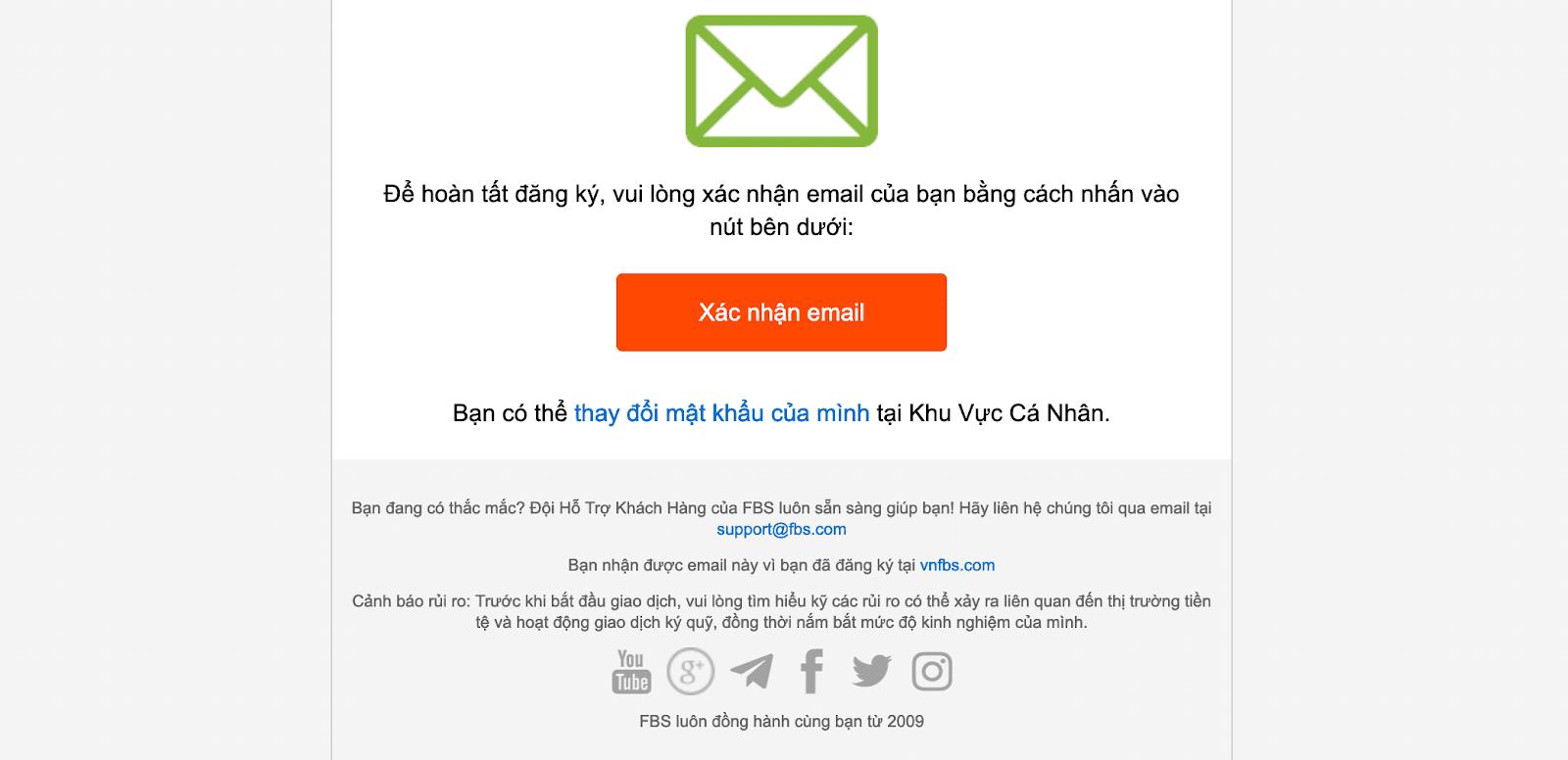 Bạn xác nhận email đăng ký tài khoản