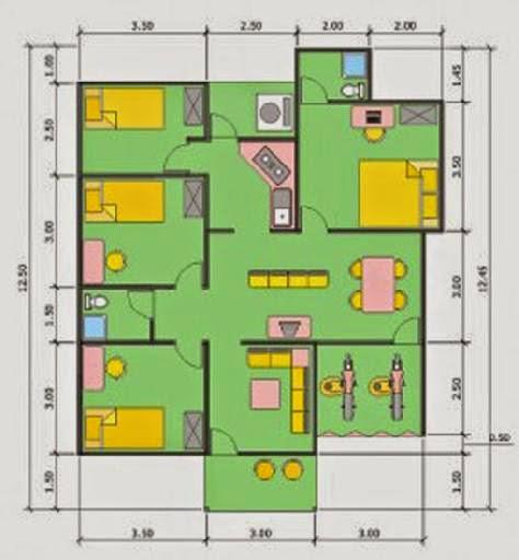 contoh desain rumah tinggal gallery taman minimalis