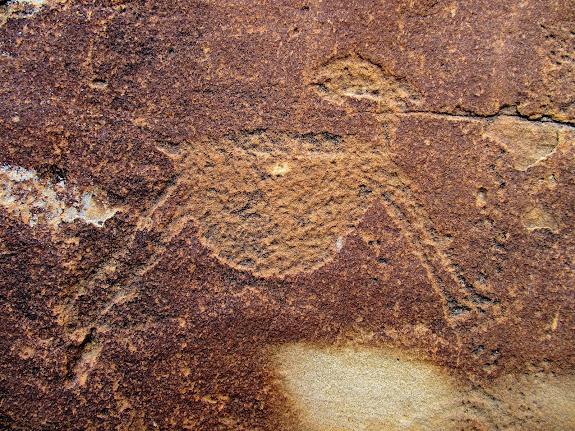 Awesome sheep petroglyph