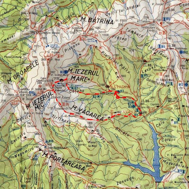 harta Iezer - fragment (Jepi, Refugiul Iezer, Vacarea, Cab. Voina)