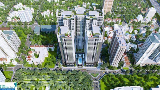 Phối cảnh chung cư PD Green Park Trần Thủ Độ