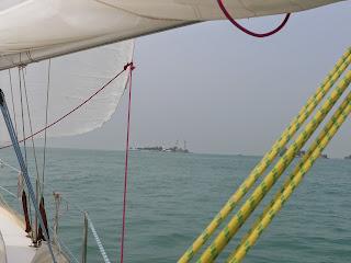 Nejjižnější cíp Singapuru, maják Raffles