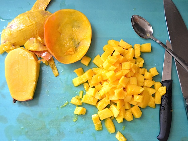 mango chopped into cubes