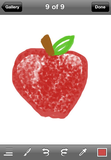 My pathetic apple in Brushes