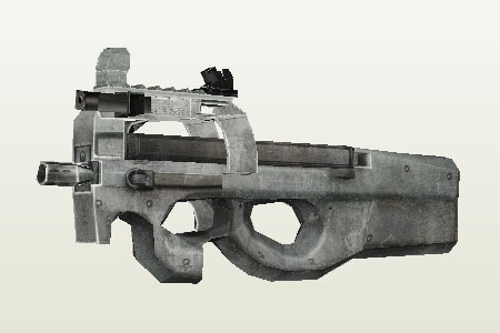 Call of Duty Lifesize P90 Papercraft