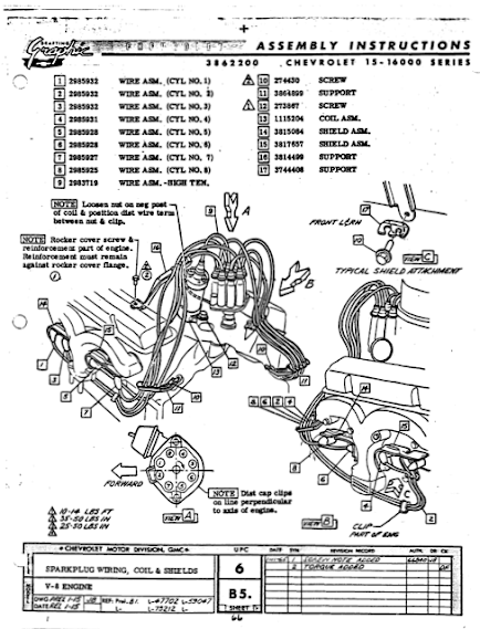 spark plug wires restoration and repair help is this the wiring diagram you meant i went to the manual in the link you attached