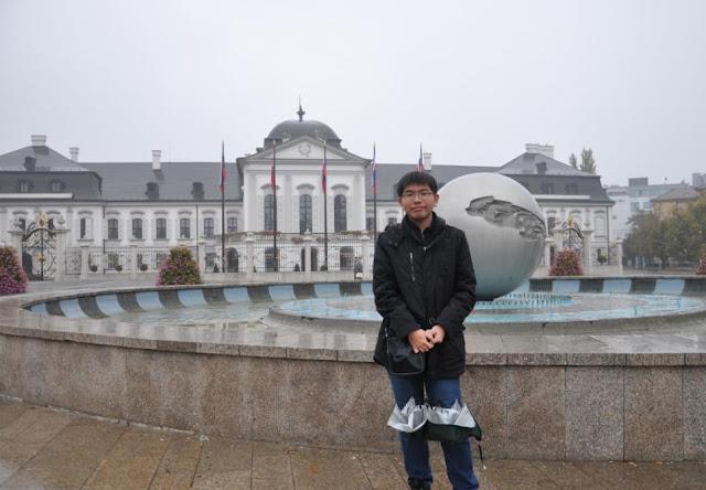 我在斯洛伐克總統府!