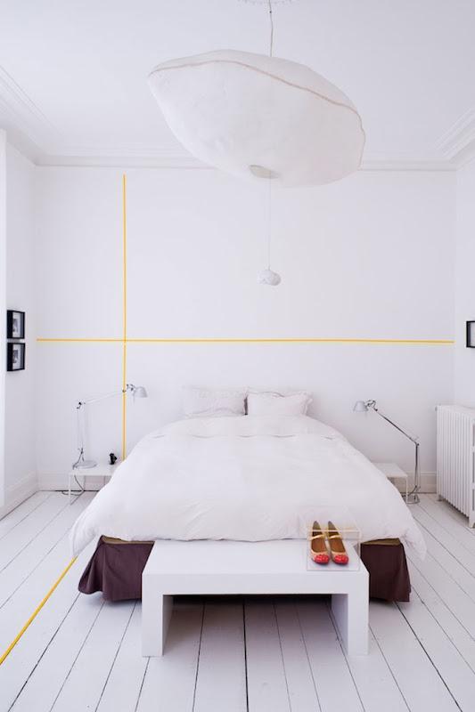 Idea decorar una pared con washi tape