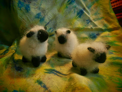 Flock of Sheep, Or just One Lonely Sheep, Needle felted wool, Ready to Ship