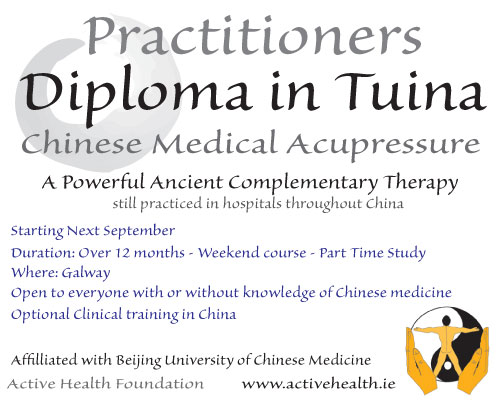 Practitioners Diploma in Tuina | Active Health Foundation