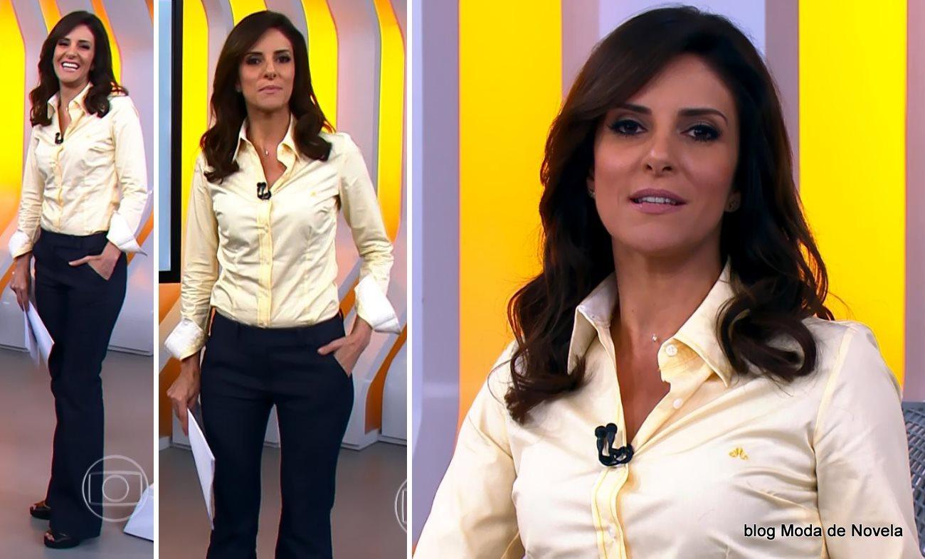 moda do programa Hora 1, look da Monalisa Perrone dia 4 de dezembro