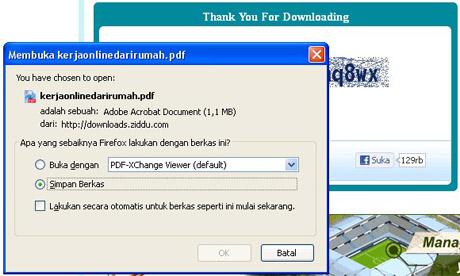 Cara Mengatasi Tidak Bisa men-Download dari Ziddu Via IDM 02