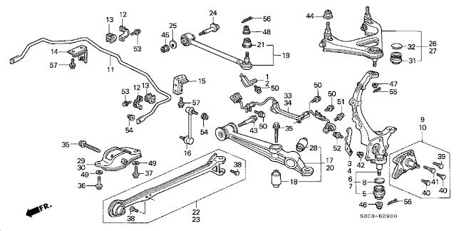 1992 si 4ws full 5th gen sh steering  suspension swap w
