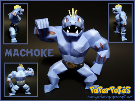 Pokemon Machoke Papercraft
