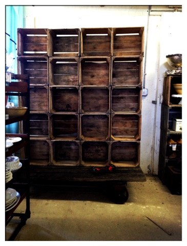 Charm city farmhouse antiques apple crates and the sweet for Used apple crates