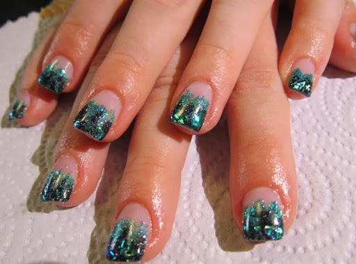 Green and Black Glitter Gels