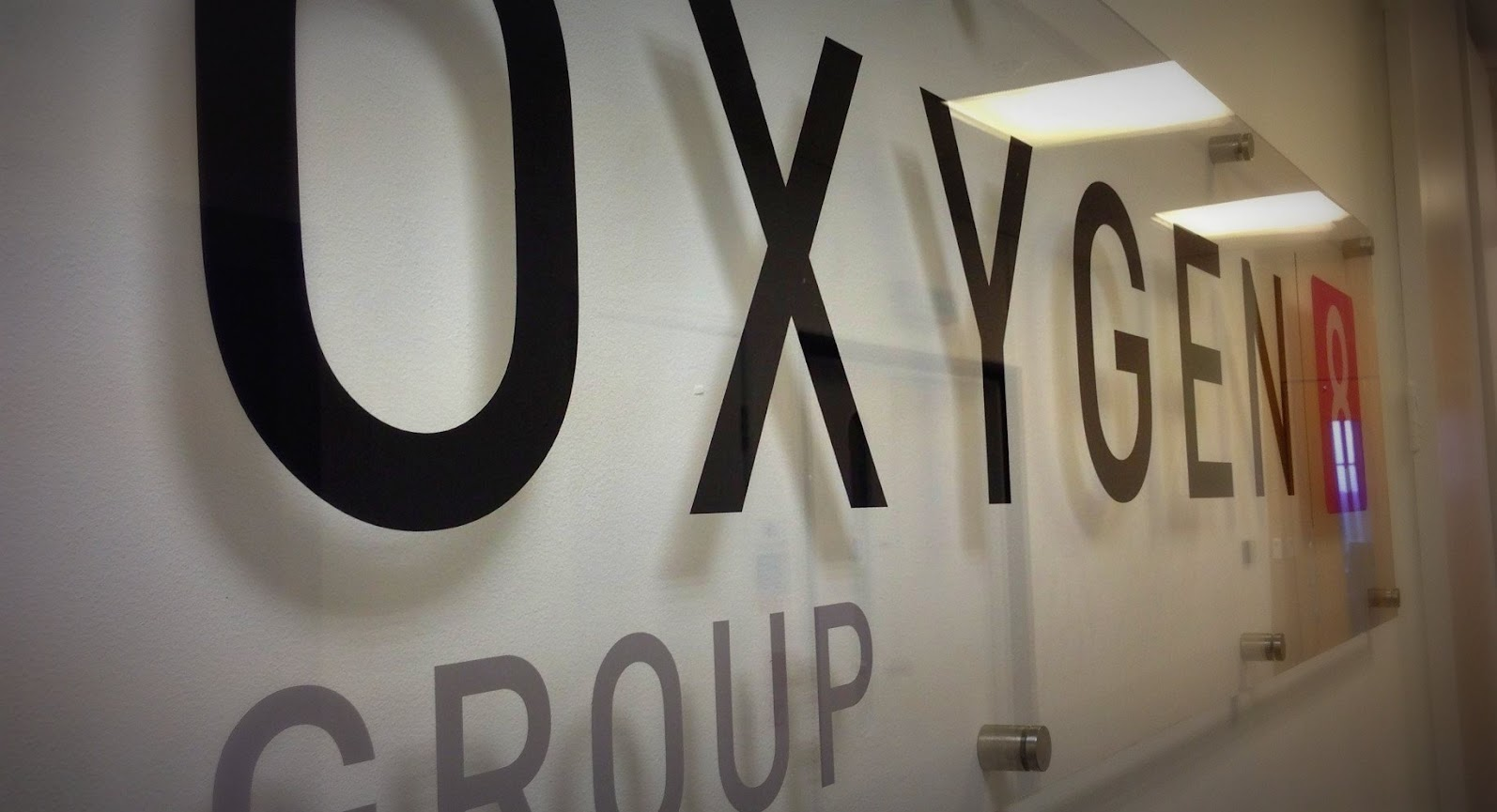 Oxygen8 Group Glass Signage