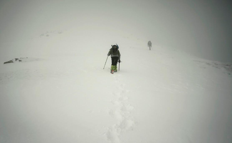 Podejście na Rohacz Płaczliwy zima