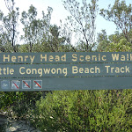 Sign on Congwong Beach near La Perouse (308681)